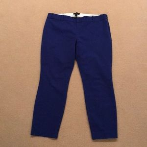 J. Crew Purple/Blue Minnie Capris
